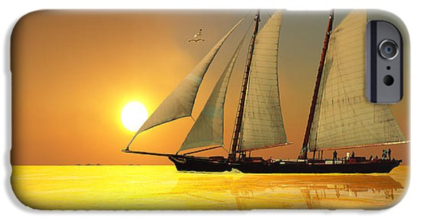Tall Ship Digital Art iPhone Cases - Light of Life iPhone Case by Corey Ford