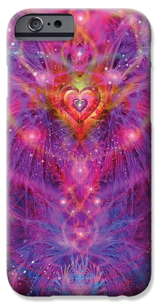 Abstract Digital iPhone Cases - Light of Passion Reborn iPhone Case by Alixandra Mullins