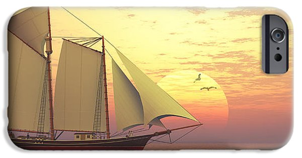 Tall Ship iPhone Cases - Light of the Sun iPhone Case by Corey Ford