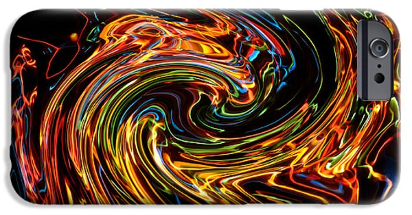 Hallucination iPhone Cases - Light painting 2 iPhone Case by Delphimages Photo Creations
