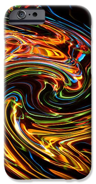 Light painting 2 iPhone Case by Delphimages Photo Creations