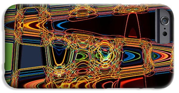 Hallucination iPhone Cases - Light painting 3 iPhone Case by Delphimages Photo Creations