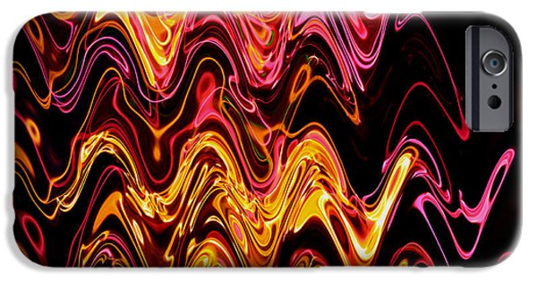 Hallucination iPhone Cases - Light painting 5 iPhone Case by Delphimages Photo Creations