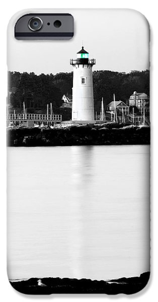 New England Lighthouse iPhone Cases - Light Reflection iPhone Case by Greg Fortier