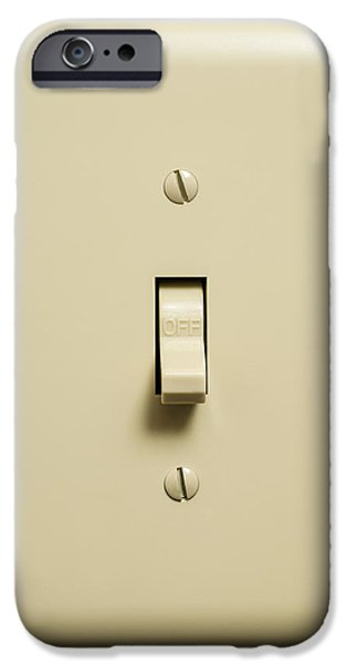 Electrical Component Photographs iPhone Cases - Light Switch iPhone Case by Donald  Erickson
