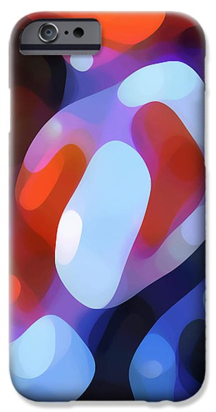 Abstract Digital Art iPhone Cases - Light Through Fall Leaves iPhone Case by Amy Vangsgard