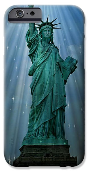 Patriotism iPhone Cases - Light to the Nations iPhone Case by Stephen Stookey
