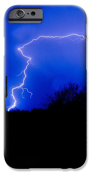 Natural Forces iPhone Cases - Light up the Desert  iPhone Case by Saija  Lehtonen