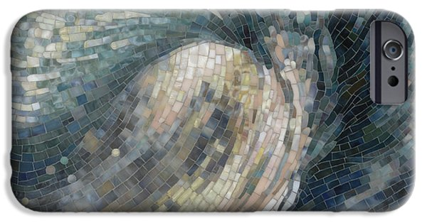 Beach Glass iPhone Cases - Light Wave  iPhone Case by Mia Tavonatti