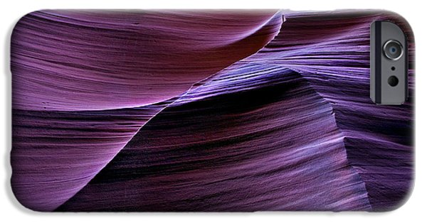 Red Rock iPhone Cases - Light Waves iPhone Case by Mike  Dawson