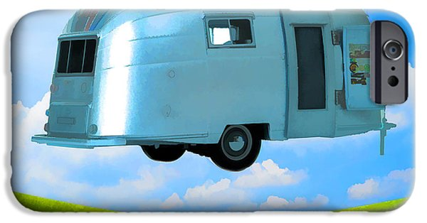 Trailers iPhone Cases - Lighter Than Air iPhone Case by Edward Fielding