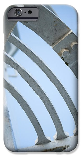 Head Harbour Lighthouse iPhone Cases - Lighthouse Abstract iPhone Case by Anne Gilbert