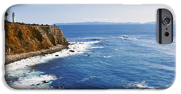 Physical iPhone Cases - Lighthouse At A Coast, Point Vicente iPhone Case by Panoramic Images