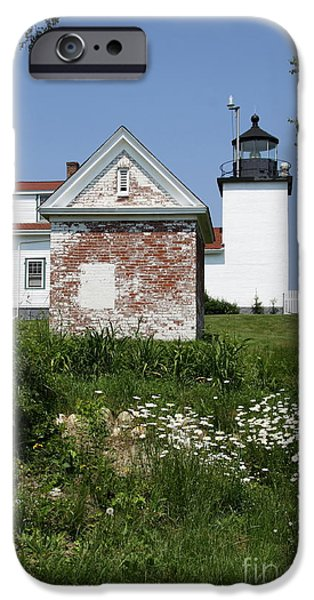 New England Lighthouse iPhone Cases - Lighthouse At Penobscot River iPhone Case by Christiane Schulze Art And Photography