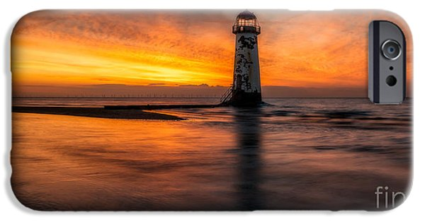 Lighthouse Digital iPhone Cases - Lighthouse At Sunset iPhone Case by Adrian Evans