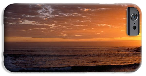 Lighthouse iPhone Cases - Lighthouse At Sunset, Pigeon Point iPhone Case by Panoramic Images