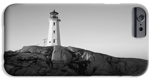 Lighthouse iPhone Cases - Lighthouse At The Coast, Peggys Point iPhone Case by Panoramic Images