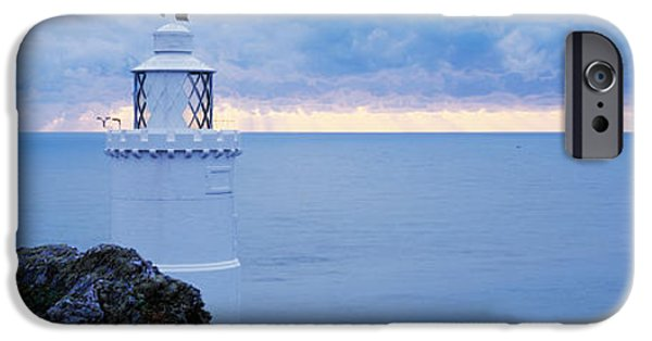 Lighthouse iPhone Cases - Lighthouse At The Seaside, Start Point iPhone Case by Panoramic Images