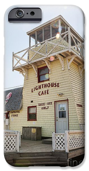 Province iPhone Cases - Lighthouse cafe in North Rustico iPhone Case by Elena Elisseeva