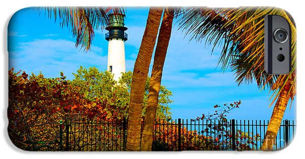 Florida Pyrography iPhone Cases - Lighthouse iPhone Case by Dan Hilsenrath