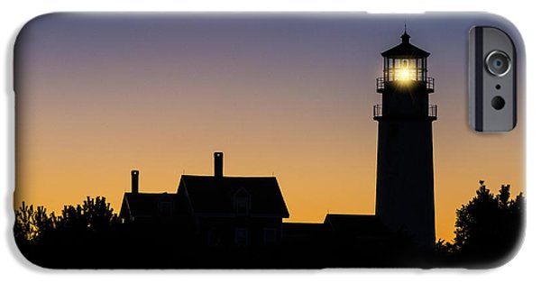 Cape Cod Lighthouse iPhone Cases - Lighthouse Dawn iPhone Case by John Greim