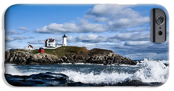 Recently Sold -  - Nubble Lighthouse iPhone Cases - Lighthouse in Maine USA 2 iPhone Case by Derek Latta