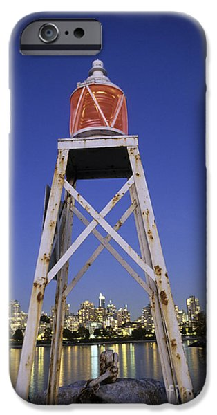 Burrard Inlet iPhone Cases - Lighthouse in Vancouver  Canada iPhone Case by Ryan Fox