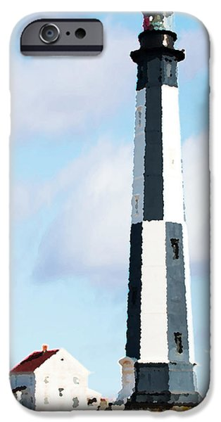 Lighthouse Living - New Cape Henry Lighthouse iPhone Case by Gregory Ballos