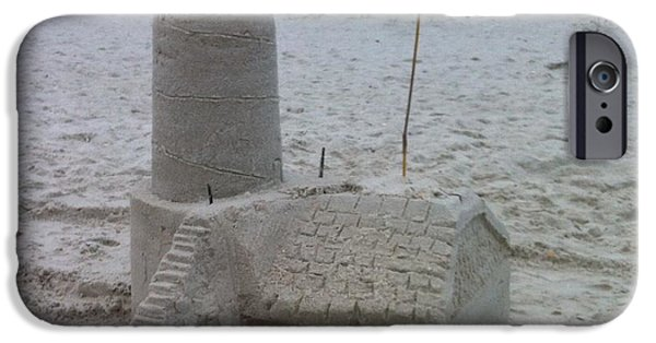 Sand Castles iPhone Cases - Lighthouse  iPhone Case by Maria Carpio