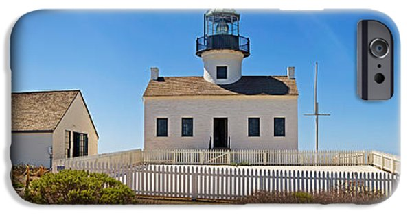 Lighthouse iPhone Cases - Lighthouse, Old Point Loma Lighthouse iPhone Case by Panoramic Images