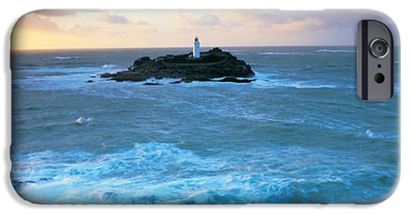 Lighthouse iPhone Cases - Lighthouse On An Island, Godvery iPhone Case by Panoramic Images