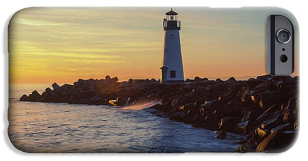 Santa Cruz iPhone Cases - Lighthouse On The Coast At Dusk, Walton iPhone Case by Panoramic Images