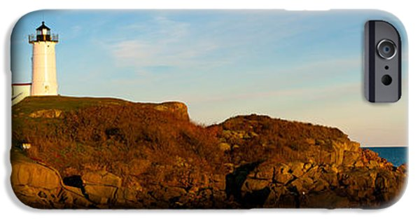 Cape Neddick Lighthouse Photographs iPhone Cases - Lighthouse On The Coast, Cape Neddick iPhone Case by Panoramic Images