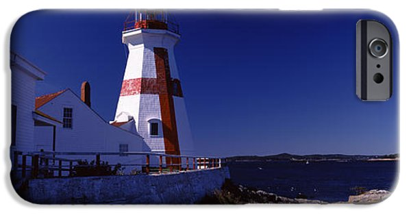 Built Structure iPhone Cases - Lighthouse On The Coast, Head Harbour iPhone Case by Panoramic Images