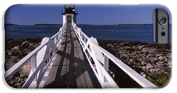 Coastal Places iPhone Cases - Lighthouse On The Coast, Marshall Point iPhone Case by Panoramic Images