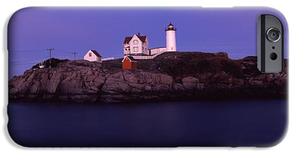 Built Structure iPhone Cases - Lighthouse On The Coast, Nubble iPhone Case by Panoramic Images