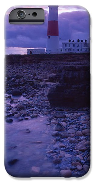 Built Structure iPhone Cases - Lighthouse On The Coast, Portland Bill iPhone Case by Panoramic Images