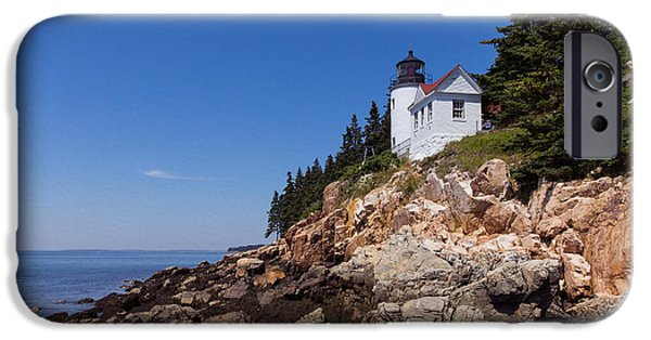 Marine iPhone Cases - Lighthouse on the Edge iPhone Case by John Bailey
