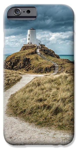 Paths iPhone Cases - Lighthouse Path iPhone Case by Adrian Evans