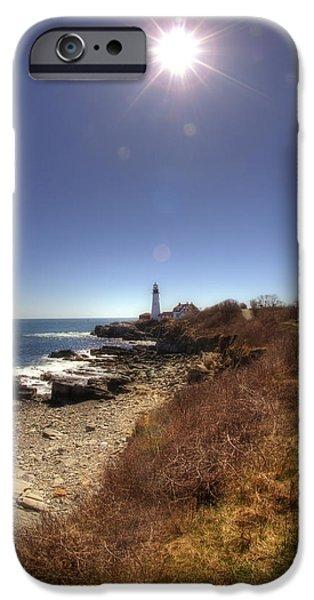 Lighthouse Path iPhone Case by Joann Vitali