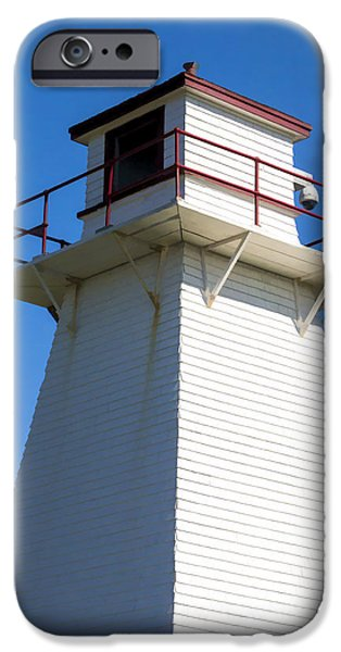 Lighthouse iPhone Cases - Lighthouse PEI iPhone Case by Edward Fielding