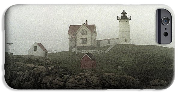 Lighthouse Mixed Media iPhone Cases - Lighthouse - Photo Watercolor iPhone Case by Frank Romeo