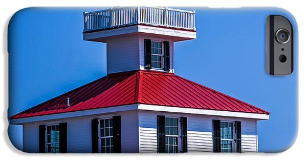 Buildings By The Ocean iPhone Cases - Lighthouse Pontchartrain iPhone Case by Renee Barnes