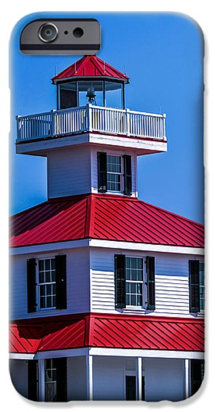 Lighthouse Pontchartrain iPhone Case by Renee Barnes