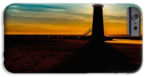 Lighthouse Digital iPhone Cases - Lighthouse Silhouette iPhone Case by Adrian Evans