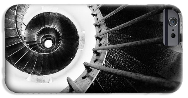Lighthouse iPhone Cases - Lighthouse Staircase iPhone Case by Stylianos Kleanthous