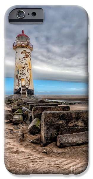 Beach Landscape iPhone Cases - Lighthouse Steps iPhone Case by Adrian Evans