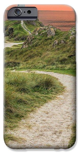 Lighthouse Trail iPhone Case by Adrian Evans