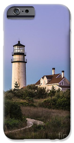 Cape Cod Lighthouses iPhone Cases - Lighthouse Trail iPhone Case by John Greim