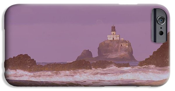 Lighthouse iPhone Cases - Lighthouse Waves And Rocks iPhone Case by Jeff  Swan